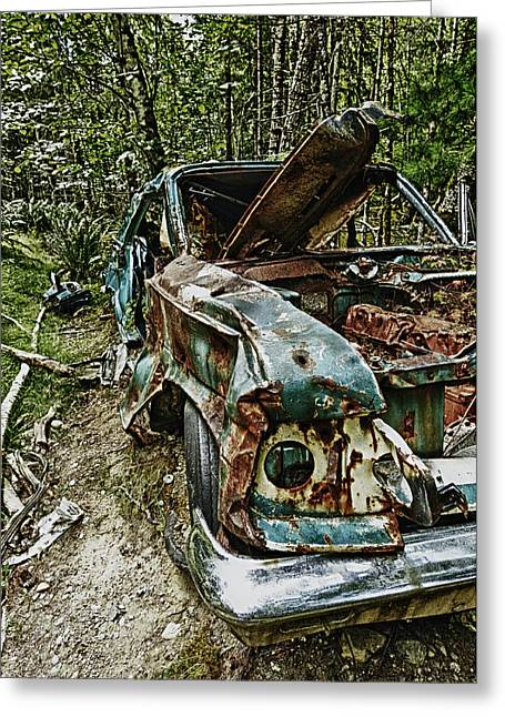 Abandon Car Greeting Card by Greg Horler