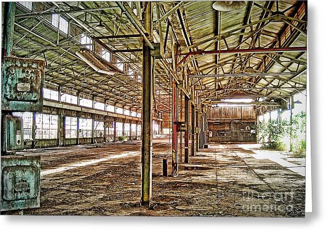 Abandon Factory Greeting Card by Joe Finney