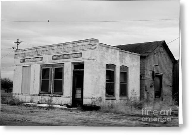 Abandon Gas Station 1 Greeting Card by Yumi Johnson