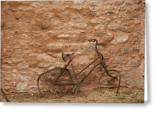 Abandoned Bike Greeting Card by Georgia Fowler