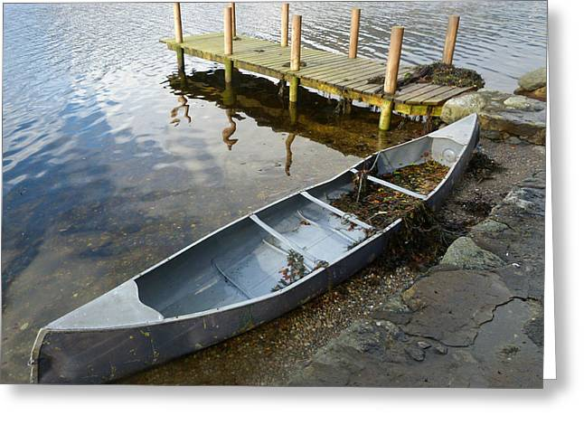 Greeting Card featuring the photograph Abandoned Canoe by Lynn Bolt
