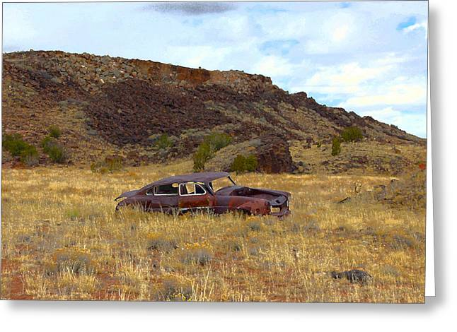 Abandoned Car Greeting Card by Steve McKinzie
