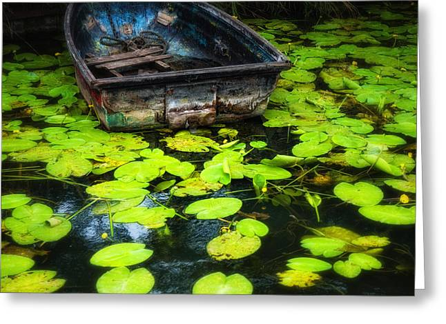 Abandoned Dingy Greeting Card by Barry Teutenberg