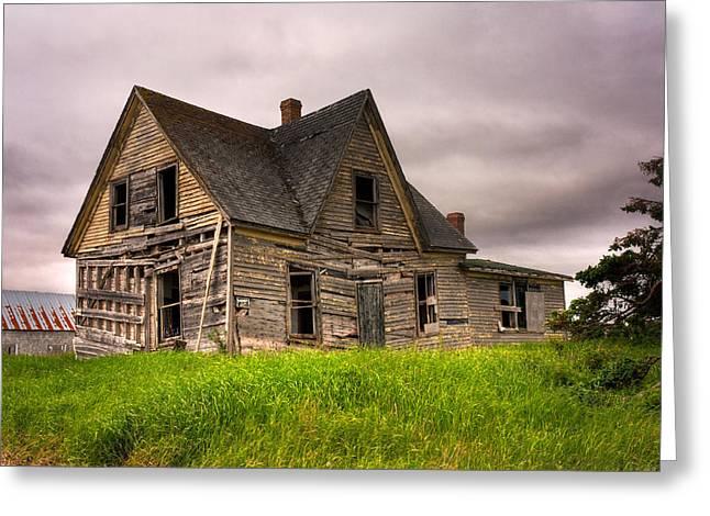 Abandoned Farm House Greeting Card by Matt Dobson