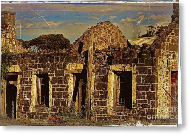 Greeting Card featuring the digital art Abandoned Farmhouse by Blair Stuart