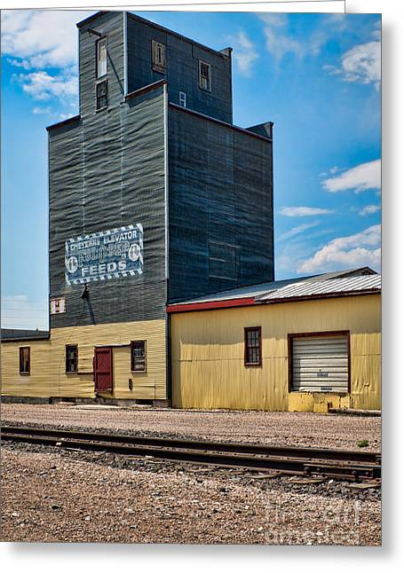 Abandoned Feed Elevator Greeting Card by Lawrence Burry