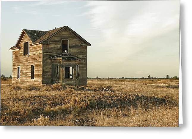 Abandoned Homestead - Eastern Washington Greeting Card by Daniel Hagerman
