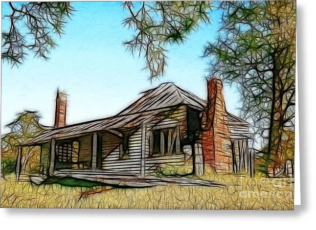 Abandoned Homestead Greeting Card by Brian Gunter