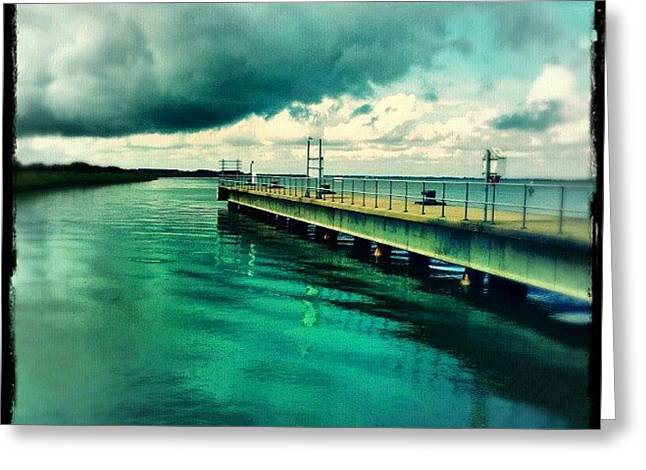 Abandoned Jetty #river #broads #water Greeting Card