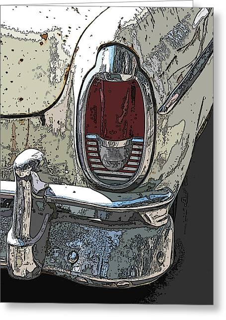Abandoned Mercury Montclair Tail Light Greeting Card