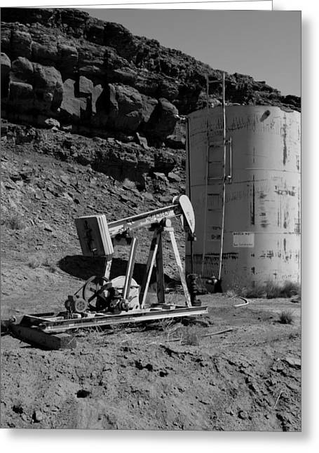 Abandoned Oil Well Mexican Hat Ut Greeting Card