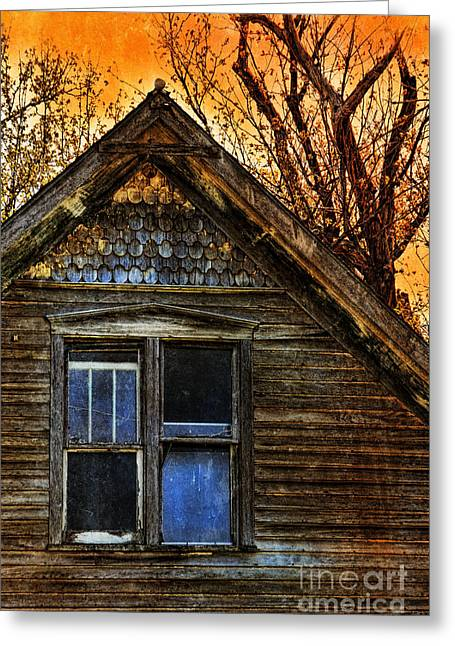 Abandoned Old House Greeting Card by Jill Battaglia