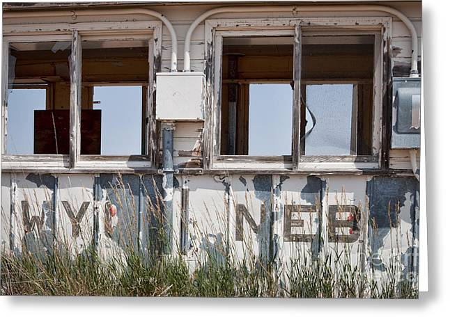 Abandoned On State Line Greeting Card by Lawrence Burry