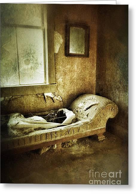 Abandoned Parlor Greeting Card by Jill Battaglia