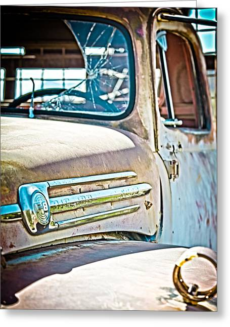 Abandoned Red Truck Greeting Card