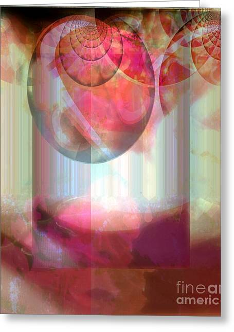 Abandoned Rose - Not Seperate From Illusion Greeting Card by Fania Simon