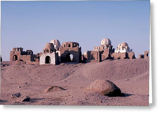 Abandoned Ruins In Afghanistan Greeting Card by Carl Purcell