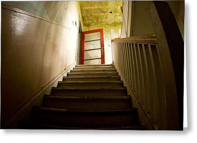 Abandoned Staircase Greeting Card