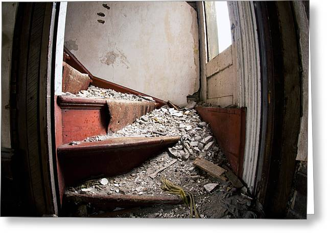 Abandoned Stairs Greeting Card by Cale Best