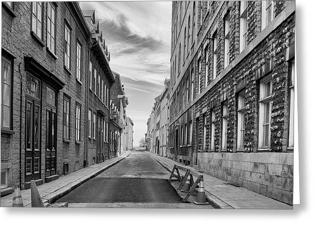 Greeting Card featuring the photograph Abandoned Street by Eunice Gibb