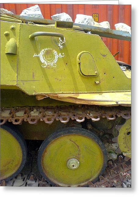 Abandoned Tank In The Valley Of Panjshir Greeting Card