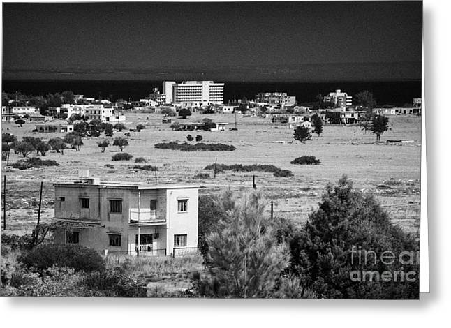 abandoned varosha ghost town in the UN buffer zone in the green line cyprus famagusta Greeting Card by Joe Fox
