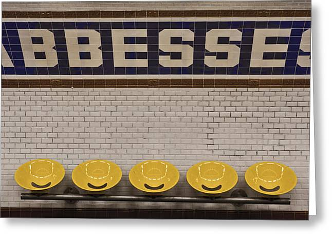 Abbesses Greeting Card by Jonathan Ellison