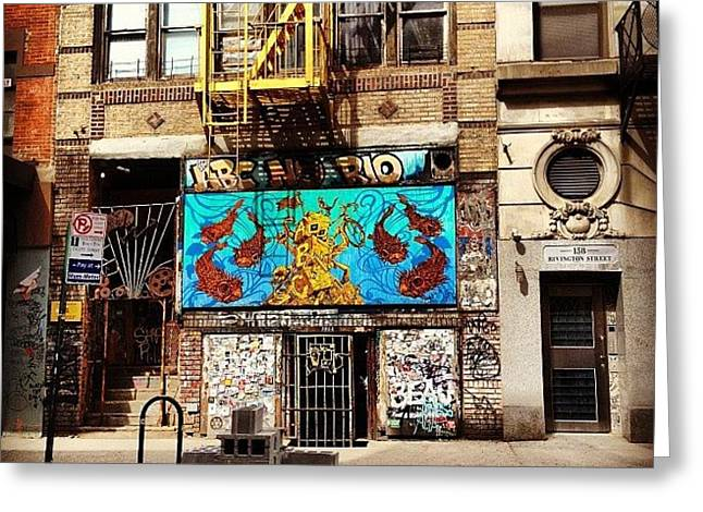 Abc No Rio - Lower East Side - New York City Greeting Card by Vivienne Gucwa