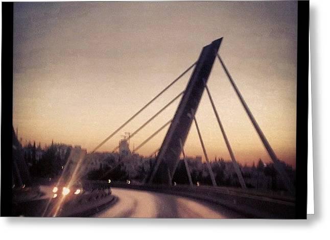 Abdoun Bridge, Jordan - Amman Greeting Card by Abdelrahman Alawwad