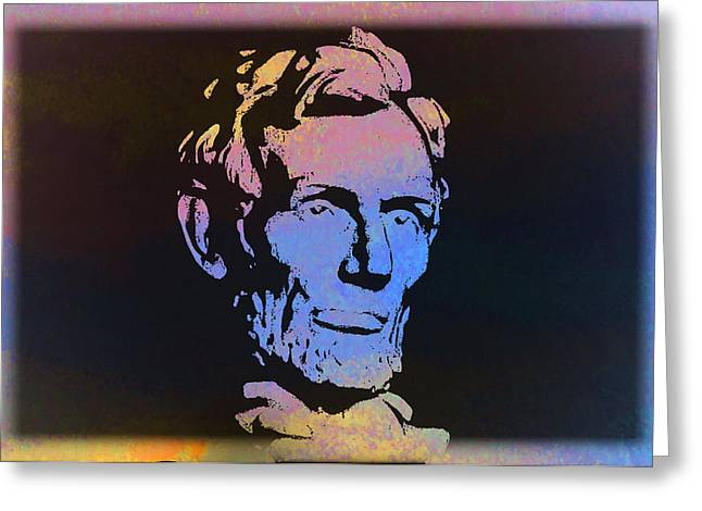 Abe Greeting Card by Bill Cannon