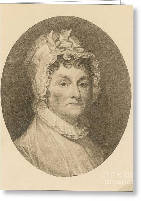 Abigail Adams Greeting Card by Photo Researchers