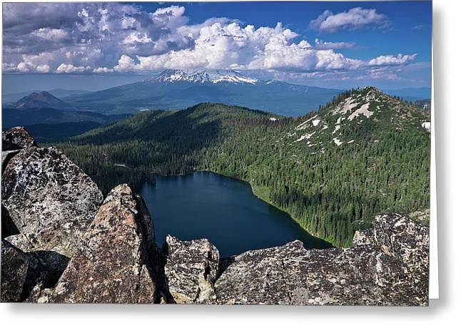 Above Castle Lake Greeting Card