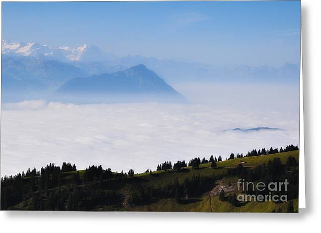 Above The Clouds Greeting Card by Svetlana Peric