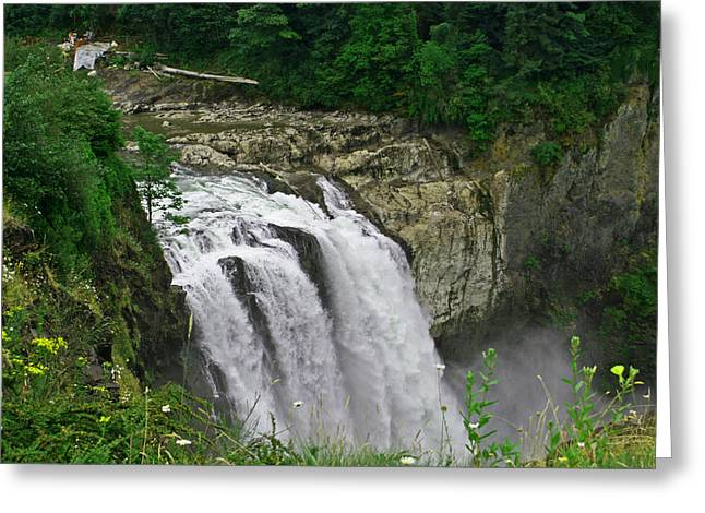 Above The Falls Greeting Card