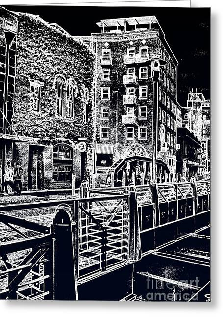 Above The River-walk Greeting Card by Joe Finney