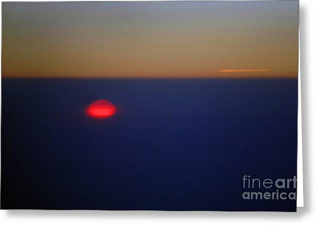 Above The Sunset Greeting Card by Gib Martinez