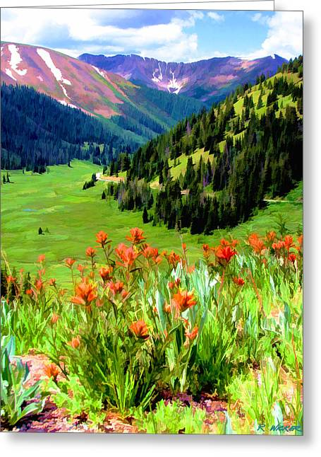Above The Valley Greeting Card