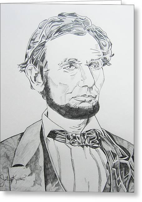 Abraham Lincoln Greeting Card by John Keaton