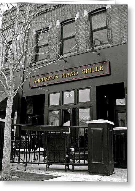 Abruzzo's Piano Grille Greeting Card