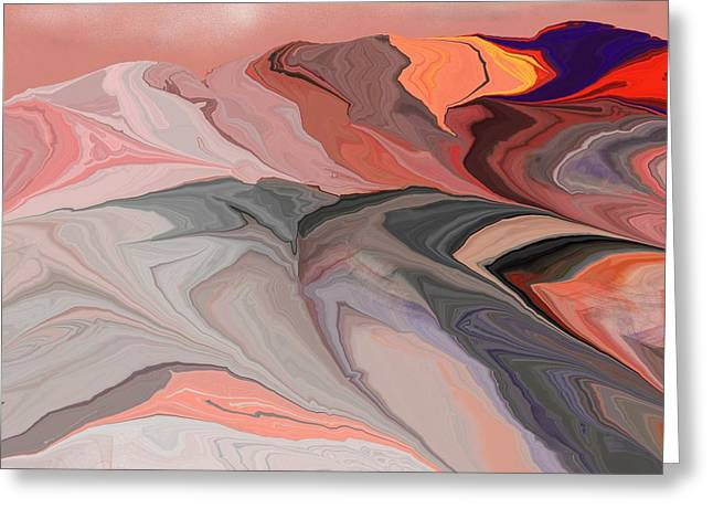 Abstract 012812abc Greeting Card by David Lane