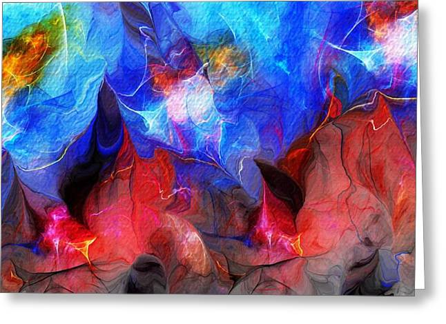 Abstract 032812a Greeting Card by David Lane