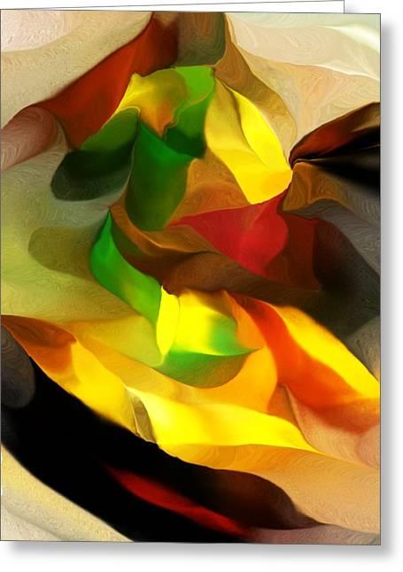 Abstract 080512 Greeting Card by David Lane