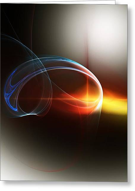 Abstract 101311c Greeting Card by David Lane