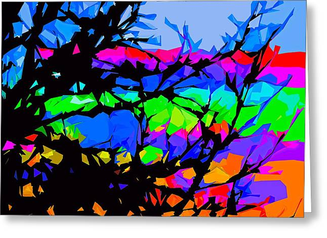Abstract 174 Greeting Card by Pamela Cooper