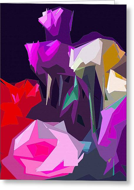 Abstract 178 Greeting Card by Pamela Cooper