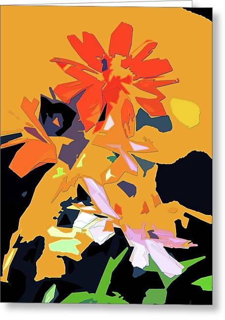 Abstract 182 Greeting Card by Pamela Cooper