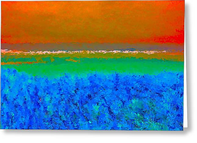 Abstract 204 Greeting Card by Pamela Cooper