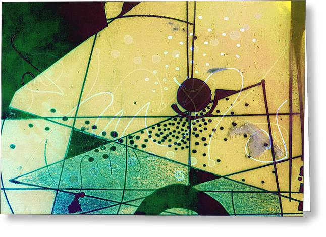 Abstract 209 Greeting Card by Ann Powell
