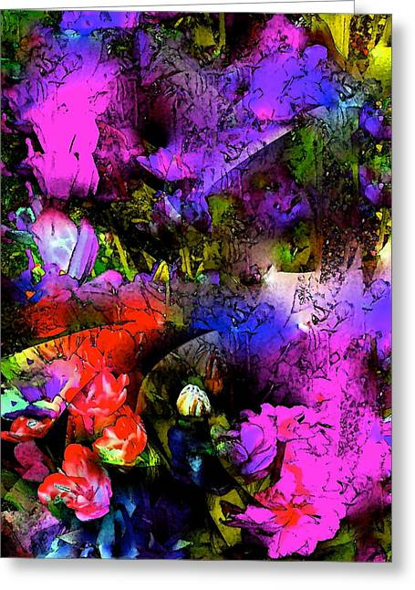 Abstract 252 Greeting Card by Pamela Cooper
