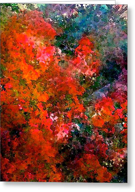 Abstract 269 Greeting Card by Pamela Cooper